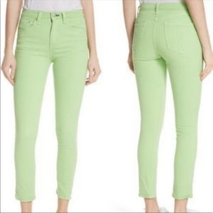 BNWT Rag & Bone Lime High Rise Skinny Jeans